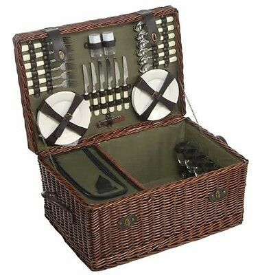 Luxury 6 Person Willow Picnic Hamper Basket