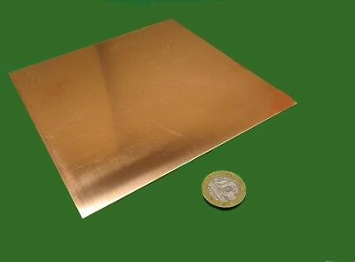 """110 Copper Sheet Soft Annealed  .043/"""" Thick x 6.0/"""" Wide x 6.0/""""  Length"""