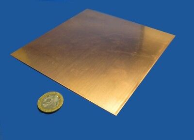 """110 Copper Sheet Soft Annealed  .043"""" Thick x 6.0"""" Wide x 6.0""""  Length"""