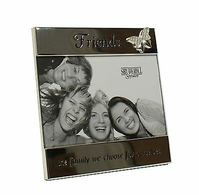 """SILVER MESSAGE BAND FRIENDS THE FAMILY WE CHOOSE FOR OURSELVES 6"""" x 4"""""""