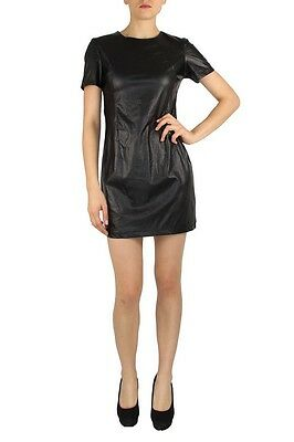Robe sexy simili cuir noir soirée hot leather dress vinyl pvc