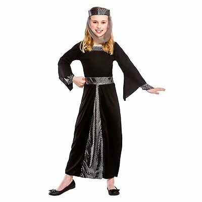 Medieval Damsel Kids Girls Historical Tudor Renaissance Fancy Dress Costume