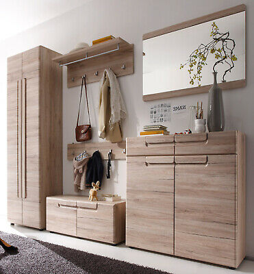 garderoben set flurgarderobe in eiche san remo flur garderobe mit schrank malea eur 699 99. Black Bedroom Furniture Sets. Home Design Ideas