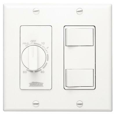 Broan 62W Broan - NuTone White 60 Minute Time Control with Two Rocker Switches