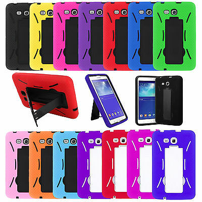 """Hybrid Tough Hard Stand Cover Case for Samsung Galaxy Tab 3 7"""" 7.0 LITE SM-T110"""