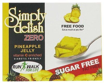 Sugar Free Pineapple Jelly 8g, Fat Free, Low Carb, Atkins, Diabetic,Gelatin Free