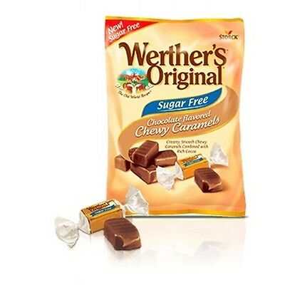 Werther's Original Sugar Free Chocolate Chewy Caramels, Diabetic, Low Carb