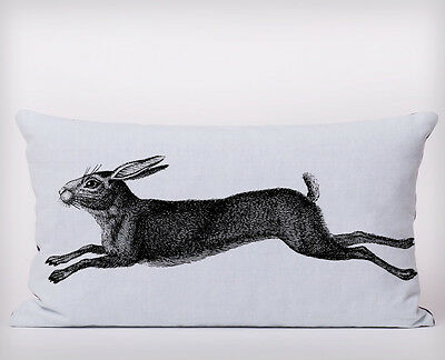 Country Hare Long Cushion Covers Pillow Cases Home Decor or Inner