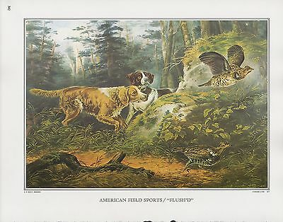 """1972 Vintage Currier /& Ives FISHING /""""SPERM WHALE FISHERY/"""" COLOR Print Lithograph"""