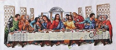 """NEW Finished completed Cross stitch""""Last supper""""decor gift free shipping"""