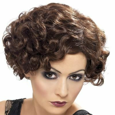 Brown 1920s Wig - Ladies WW2 Gatsby Flapper 20s 40s Fancy Dress Accessory