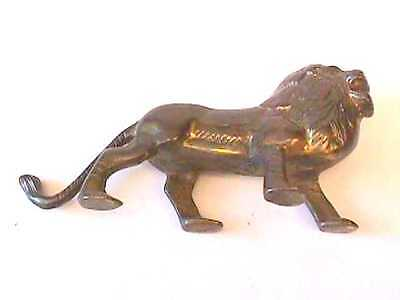 Vintage Bronze or Brass Lion Metal Sculpture
