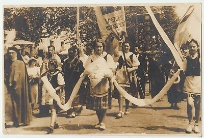 10-16 Harbin China old Photo, Russian girls festival parade