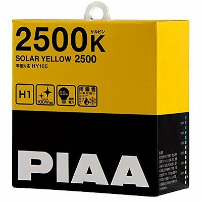 PIAA Halogen bulb 2500K SOLAR YELLOW  H1 Headlight Fog Light Bulbs Driving Japan