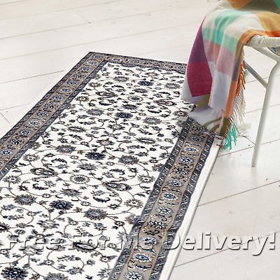 ROSA TRADITIONAL WHITE BEIGE CLASSIC FLOOR RUG RUNNER 80x400cm **FREE DELIVERY**