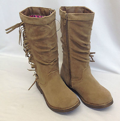 Joblot 12x Girls Mid Calf Slouch Primark Winter Brown Boots Job Lot 6-12 Sizes