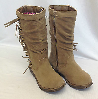 Joblot 24x Girls Mid Calf Slouch Primark Winter Brown Boots Job Lot 6-12 Sizes