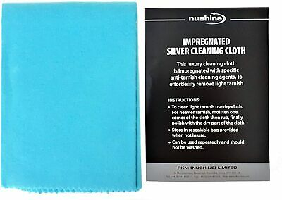 Nushine Large Silver Cleaning Cloth - Removes Tarnish From Your Silver With Ease