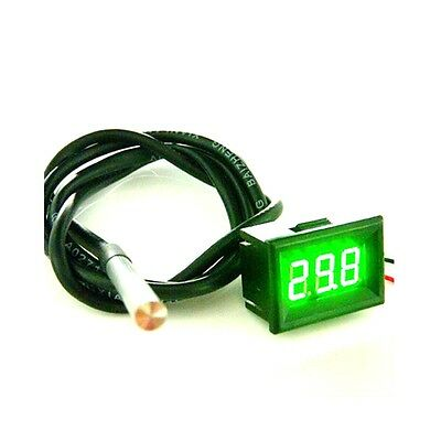 Digital Thermometer Temperature Panel Meter Green LED Waterproof -55-125C Sensor