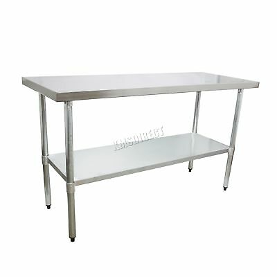 FoxHunter Stainless Steel Commercial Catering Table Work Bench Kitchen 2FT X 5FT