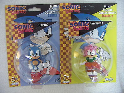 """Sonic the Hedgehog SONIC and AMY ROSE 2 Mini Figure Collectibles F4F 2.5"""""""