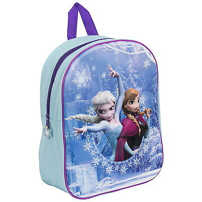 NEW OFFICIAL Disney Frozen Girls Kids 3D Backpack Rucksack Nursery School Bag