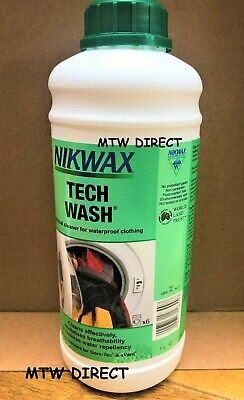 Nikwax Tech Wash 1 Litre High Performance Cleaner Textile Cycling Jacket