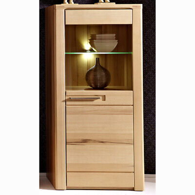 highboard vitrine vitrinenschrank kernbuche teilmassiv. Black Bedroom Furniture Sets. Home Design Ideas