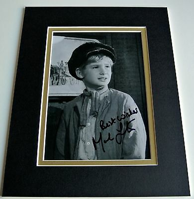 Mark Lester Signed Autograph 10x8 photo mount display Oliver Film Musical & COA