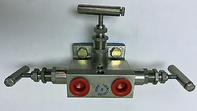 Anderson Greenwood Instrument Manifold M4Thps-4-Xp 316Ss 3 Valve