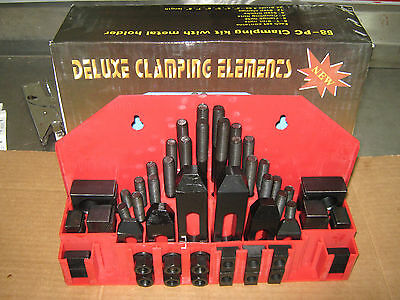 "52 pc 5/8"" T-Slot Machine Clamping Kit Import ""NEW"""