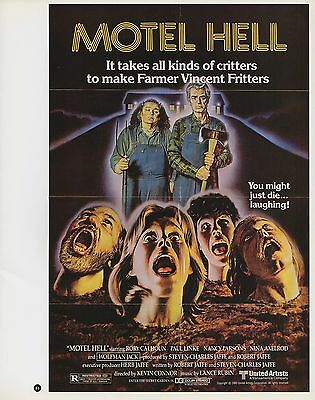 """2003 Vintage Horror /"""" BEHIND THE MASK /"""" MINI POSTER  Art Plate Lithograph"""