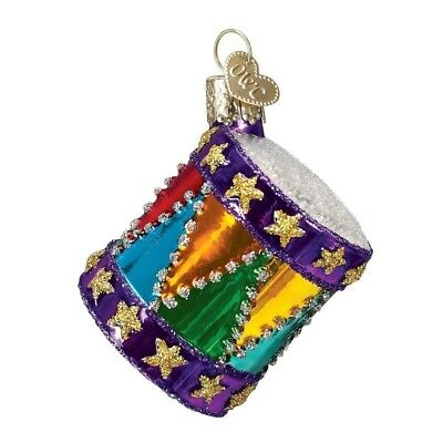 """2.75"""" The Drum Blown Glass Christmas Ornament"""