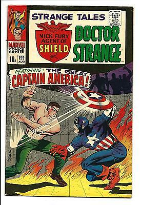 Strange Tales # 159 (Steranko Cover, Origin Nick Fury Retold, Aug 1967), Vf-