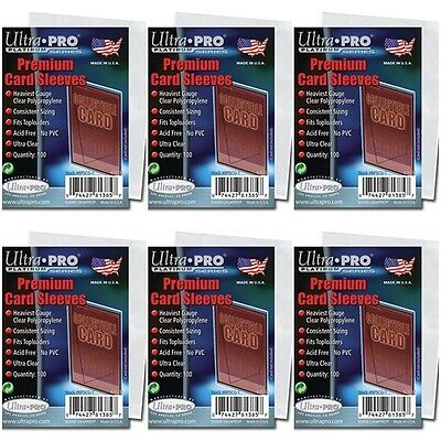 Ultra PRO Platinum Series Premium Card Sleeves - Clear - 6 Packs of 100