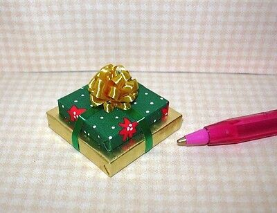 Dollhouse Miniature Handcrafted Christmas Double Gift Woodland Plaid //Twine 1:12