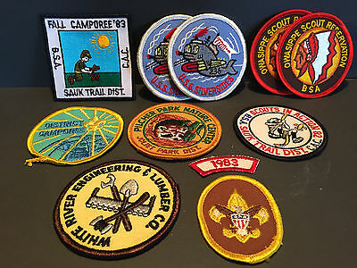 Lot of 11 Different Vintage BSA Boy Scouts of America Patches 1980's Camporee