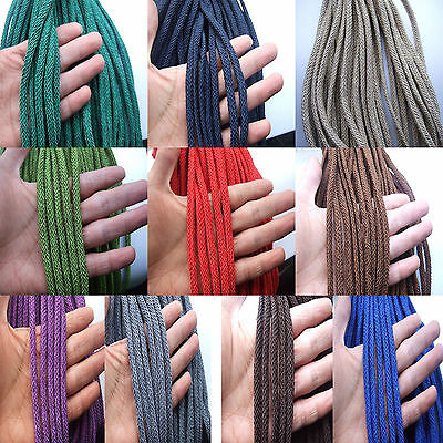 3,5,10M x Braided Knotting Thread String Cord 7x4mm For Jewellery Craft Making