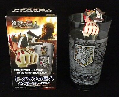 F/S Registered SAL Attack on Titan Tumbler & Figure set Levi from Japan