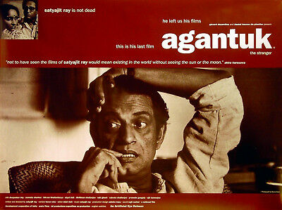 AGANTUK (THE STRANGER) 1992 Satyajit Ray Deepankar Dey UK QUAD POSTER