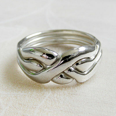 (ORIGIN) Unique Puzzle Rings - Sterling Silver - Any Size
