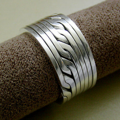 (RONRING 8) Unique Puzzle Rings - Sterling Silver - Any Size