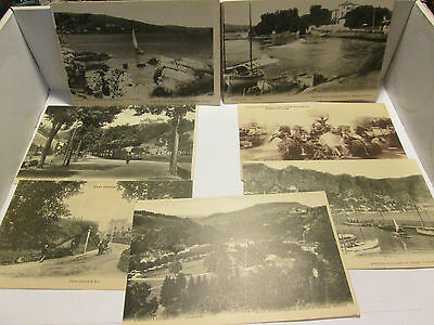 VINTAGE LOT OF 7 FOREIGN POSTCARDS LOT A NICE SHIPED FREE! PHOTO'S