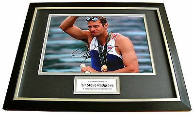 STEVE REDGRAVE Signed FRAMED Photo Autograph 16x12 Display Olympic Rowing & COA
