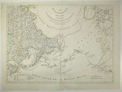 Robert Sayer The Russian Discoveries RUSSIA BERING STRAIT NORTH AMERICA Map 1775