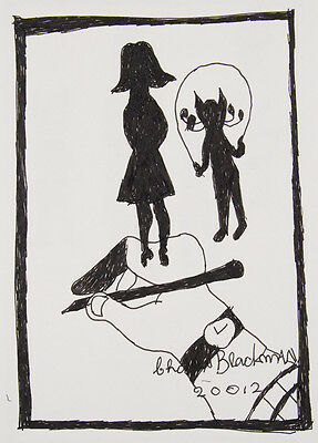 Charles BLACKMAN original ink drawing signed & with Certificate of Authenticity