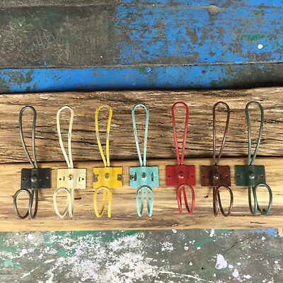 Coloured rustic metal hooks for your home - LONG