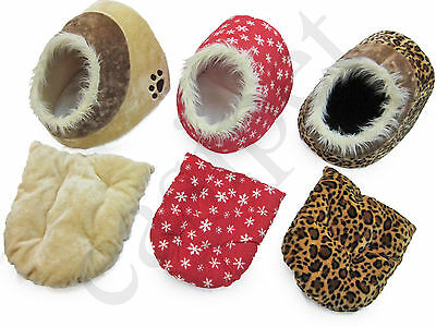 Cat Kitten Bed Igloo House Sleeping Small Pet Puppy Dog 3 Designs Easipet