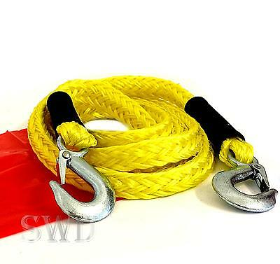 HEAVY DUTY Emergency Tow Rope 14' Long Towing Strap Road Recovery Car emergency
