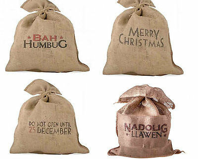 East Of India Christmas Vintage Hessian Sack Different Designs Sold For Hospice